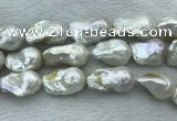 FWP368 15 inches 18mm - 22mm baroque freshwater nucleated pearl beads