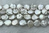 FWP380 15 inches 12mm - 13mm coin freshwater pearl beads