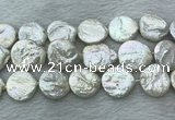 FWP382 15 inches 20mm coin freshwater pearl beads