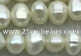 FWP39 14.5 inches 4mm - 5mm potato white freshwater pearl strands