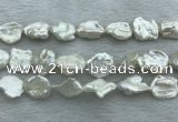 FWP403 15 inches 14mm - 15mm keshi freshwater pearl beads
