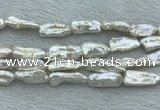 FWP410 15 inches 10*20mm - 11*25mm biwa freshwater pearl beads