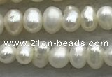 FWP50 14.5 inches 3mm - 3.5mm potato white freshwater pearl strands