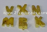 NGC1066 20*25mm - 25*30mm letter druzy agate connectors wholesale