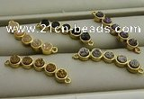 NGC6031 6*30mm plated druzy agate connectors wholesale
