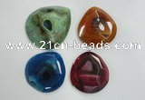 NGP1252 40*50mm - 55*65mm freeform agate gemstone pendants wholesale