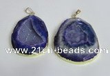 NGP2433 30*40mm - 40*45mm freeform druzy agate pendants wholesale