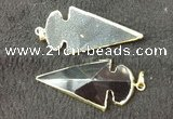 NGP2661 24*53mm - 26*55mm arrowhead agate pendants wholesale