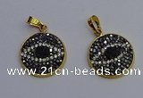 NGP6891 20mm - 22mm coin druzy agate pendants wholesale