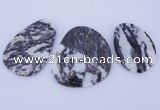 NGP948 5PCS 30-48mm*45-60mm freeform zebra jasper gemstone pendants