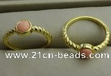NGR1049 4mm coin synthetic coral rings wholesale