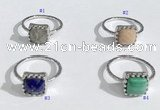 NGR1140 10mm square  mixed gemstone rings wholesale