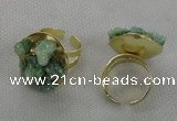 NGR180 25*30mm druzy agate gemstone rings wholesale