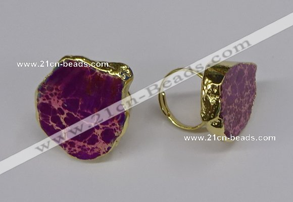 NGR263 22*30mm - 30*40mm freeform sea sediment jasper rings
