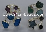 NGR367 8mm - 15*16mm freeform druzy agate rings wholesale