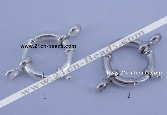 SSC209 5pcs 20mm 925 sterling silver spring rings clasps